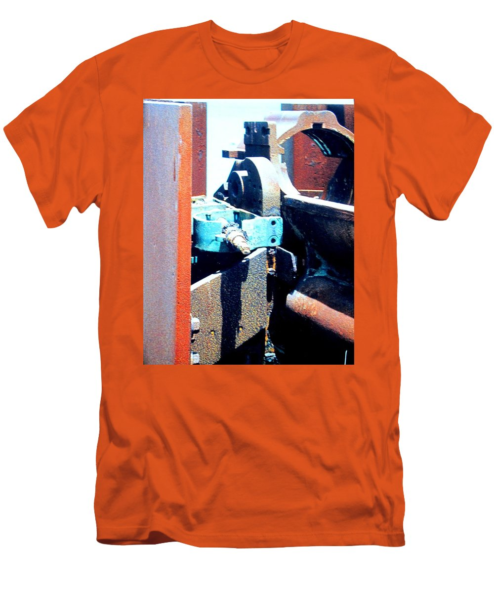 Rust Men's T-Shirt (Athletic Fit) featuring the photograph Machinery by Ian MacDonald