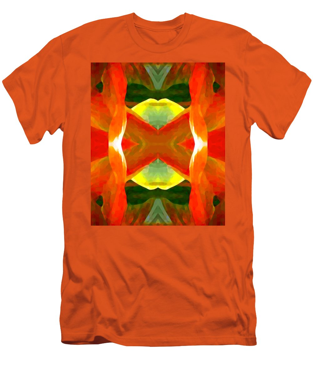 Abstract Men's T-Shirt (Athletic Fit) featuring the painting Meditation by Amy Vangsgard