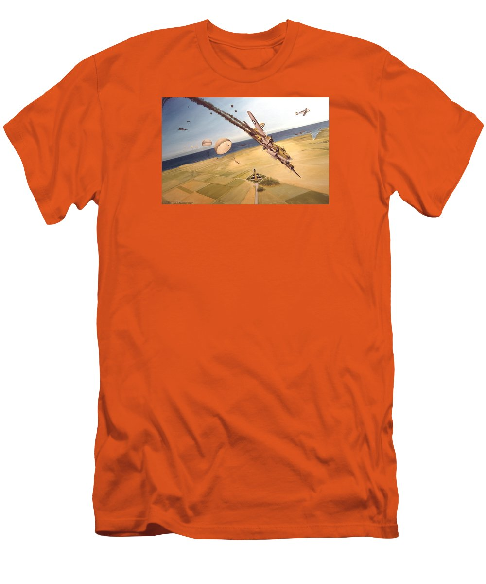 Aviation Men's T-Shirt (Athletic Fit) featuring the painting Mehitabel by Marc Stewart