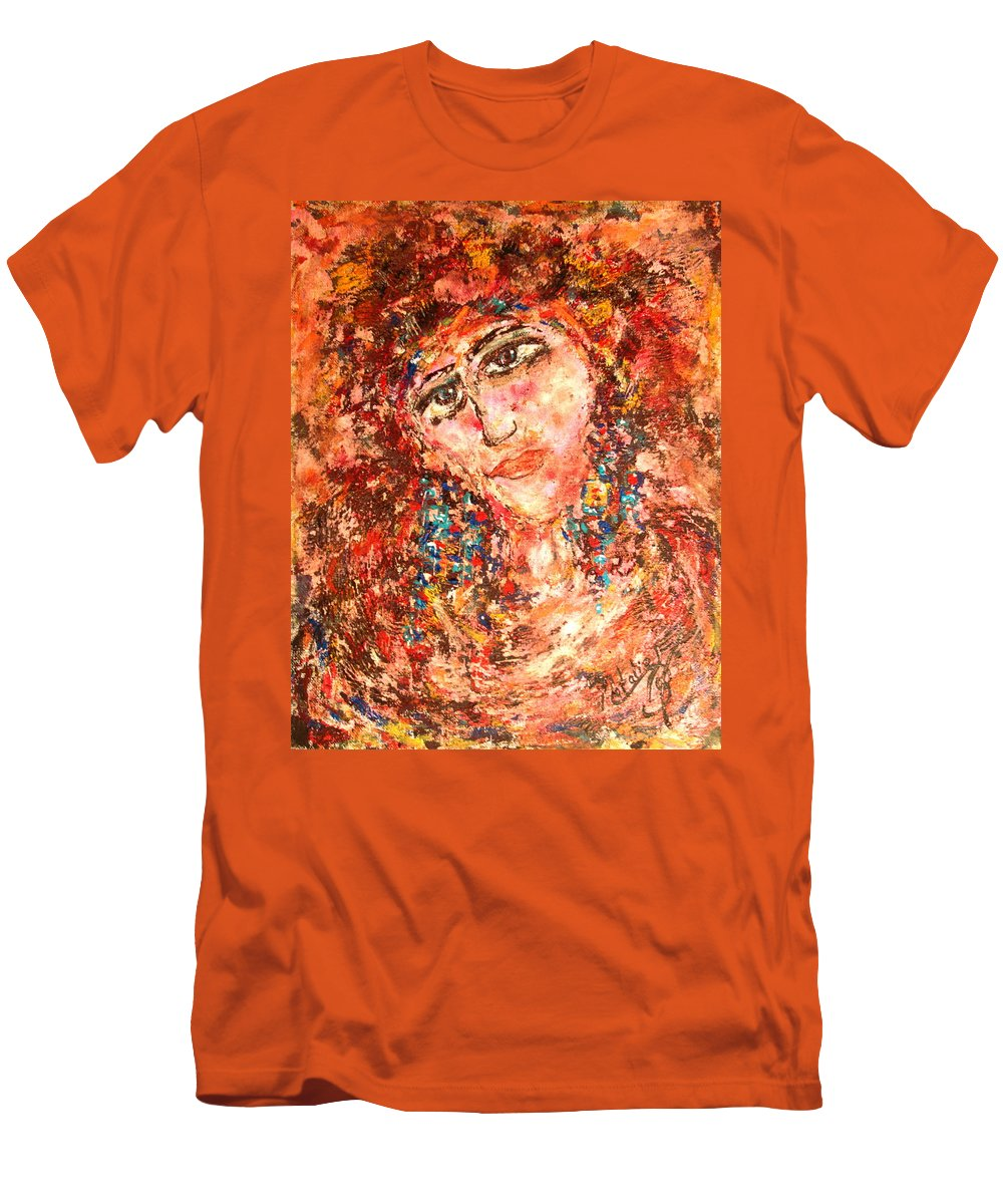 Sadness Men's T-Shirt (Athletic Fit) featuring the painting Missing You by Natalie Holland