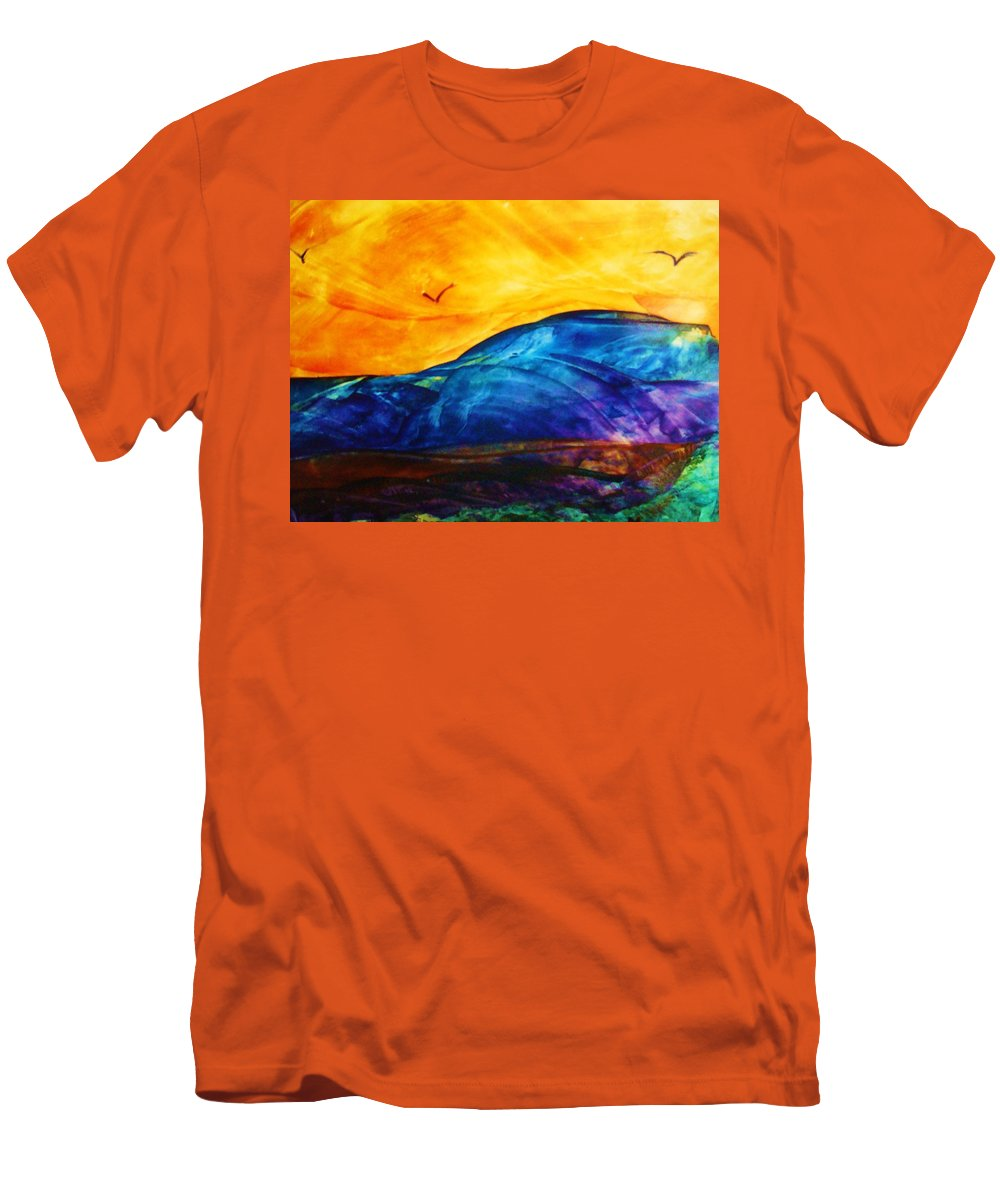 Landscape Men's T-Shirt (Athletic Fit) featuring the painting One Fine Day by Melinda Etzold