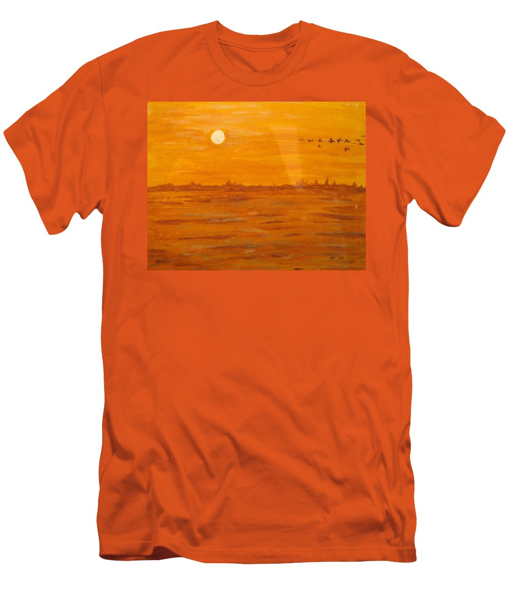 Orange Men's T-Shirt (Athletic Fit) featuring the painting Orange Ocean by Ian MacDonald