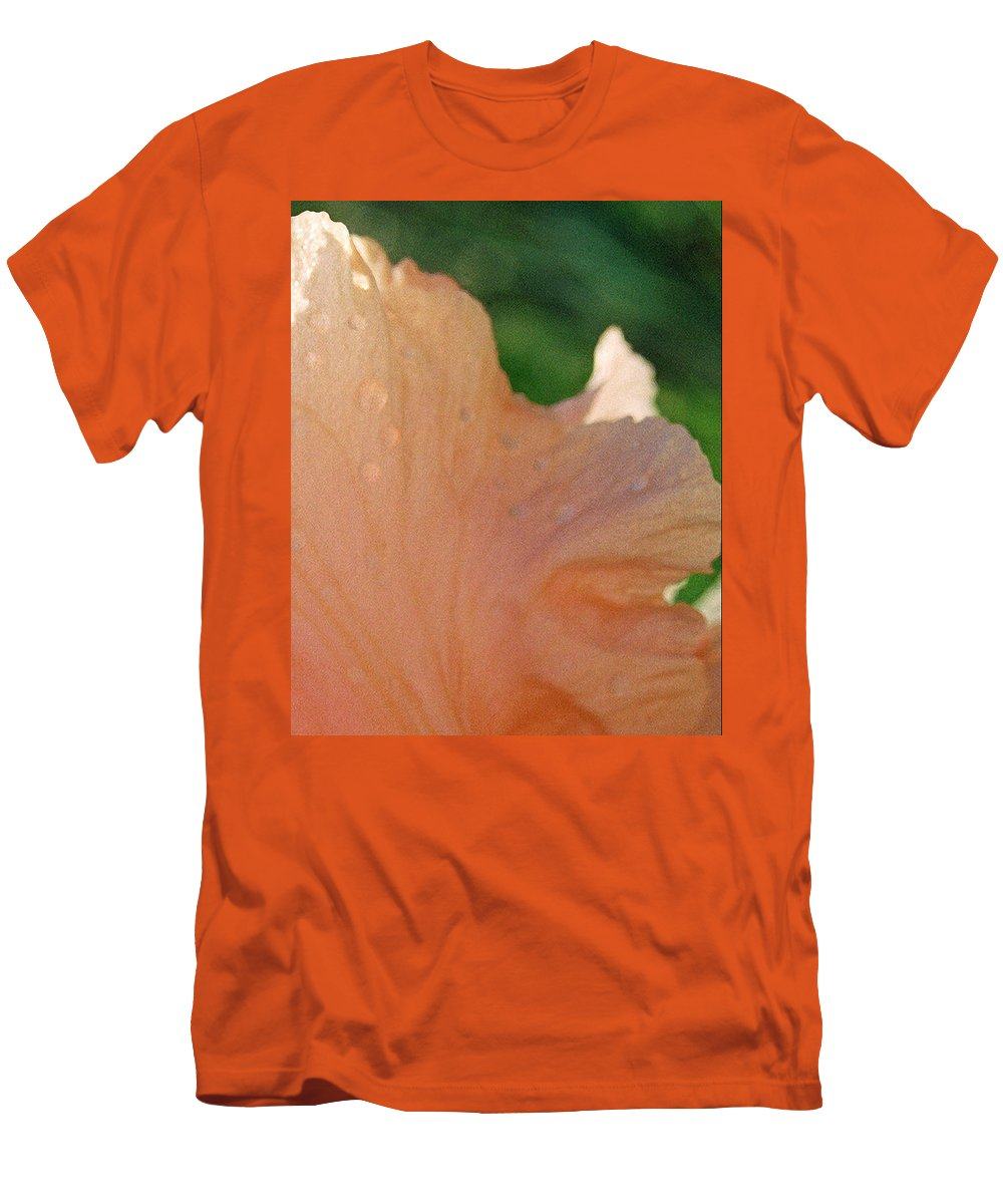 Abstract Men's T-Shirt (Athletic Fit) featuring the photograph Panel Three From Iris by Steve Karol