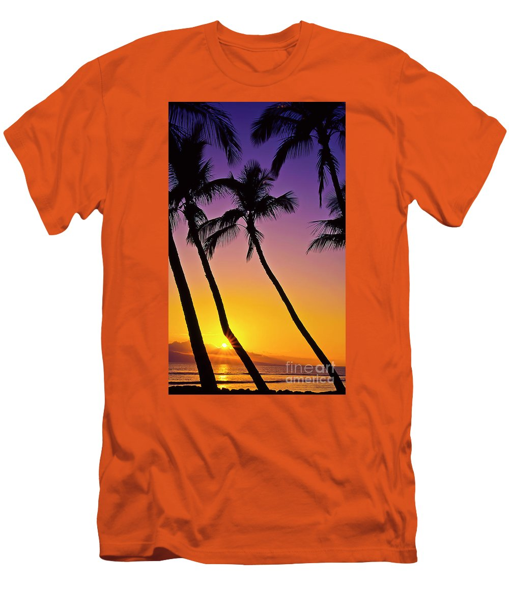 Sunset Men's T-Shirt (Athletic Fit) featuring the photograph Paradise by Jim Cazel