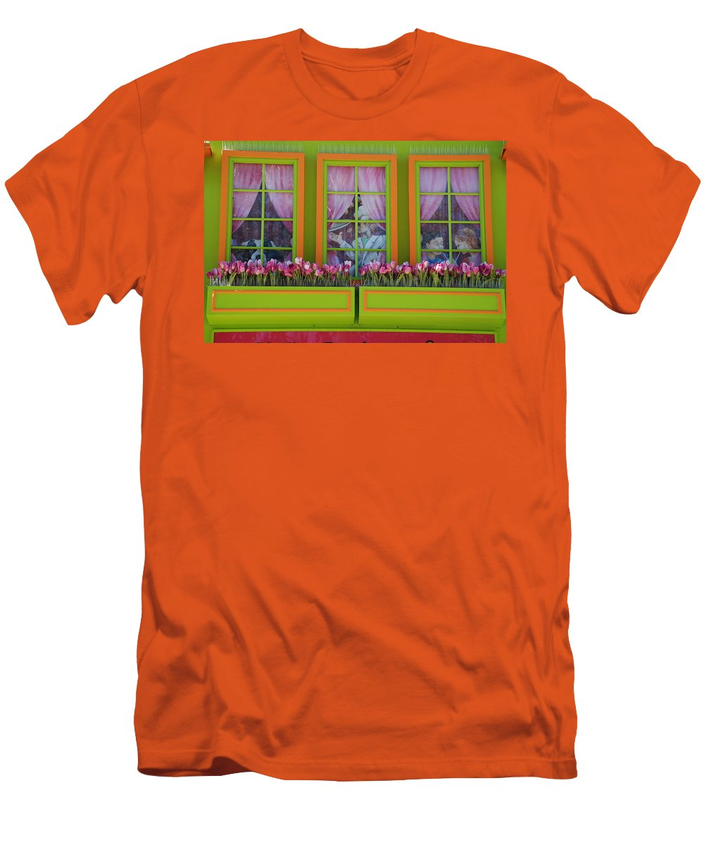 Architecture Men's T-Shirt (Athletic Fit) featuring the photograph Pastle Windows by Rob Hans