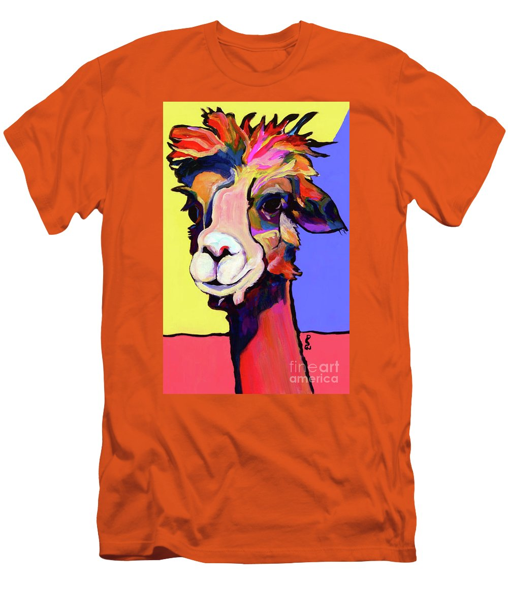 Pat Saunters-white Men's T-Shirt (Athletic Fit) featuring the painting Peaches by Pat Saunders-White