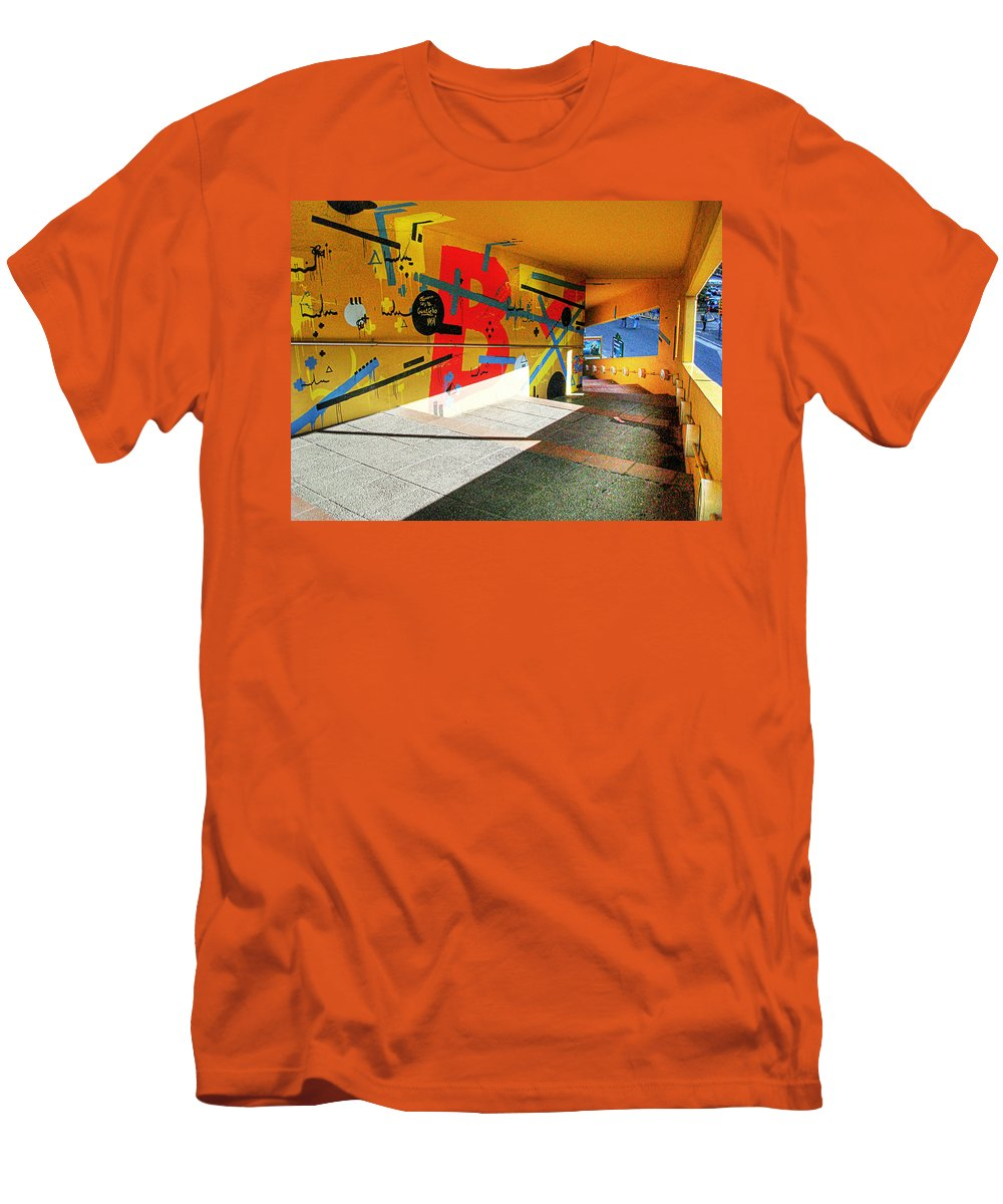 Tunnel Men's T-Shirt (Athletic Fit) featuring the photograph Recoleta Tunnel by Francisco Colon