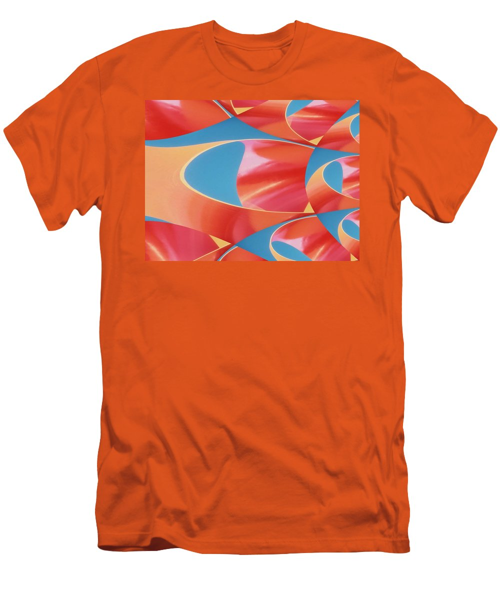 Tubes Men's T-Shirt (Athletic Fit) featuring the digital art Red Tubes by Tim Allen