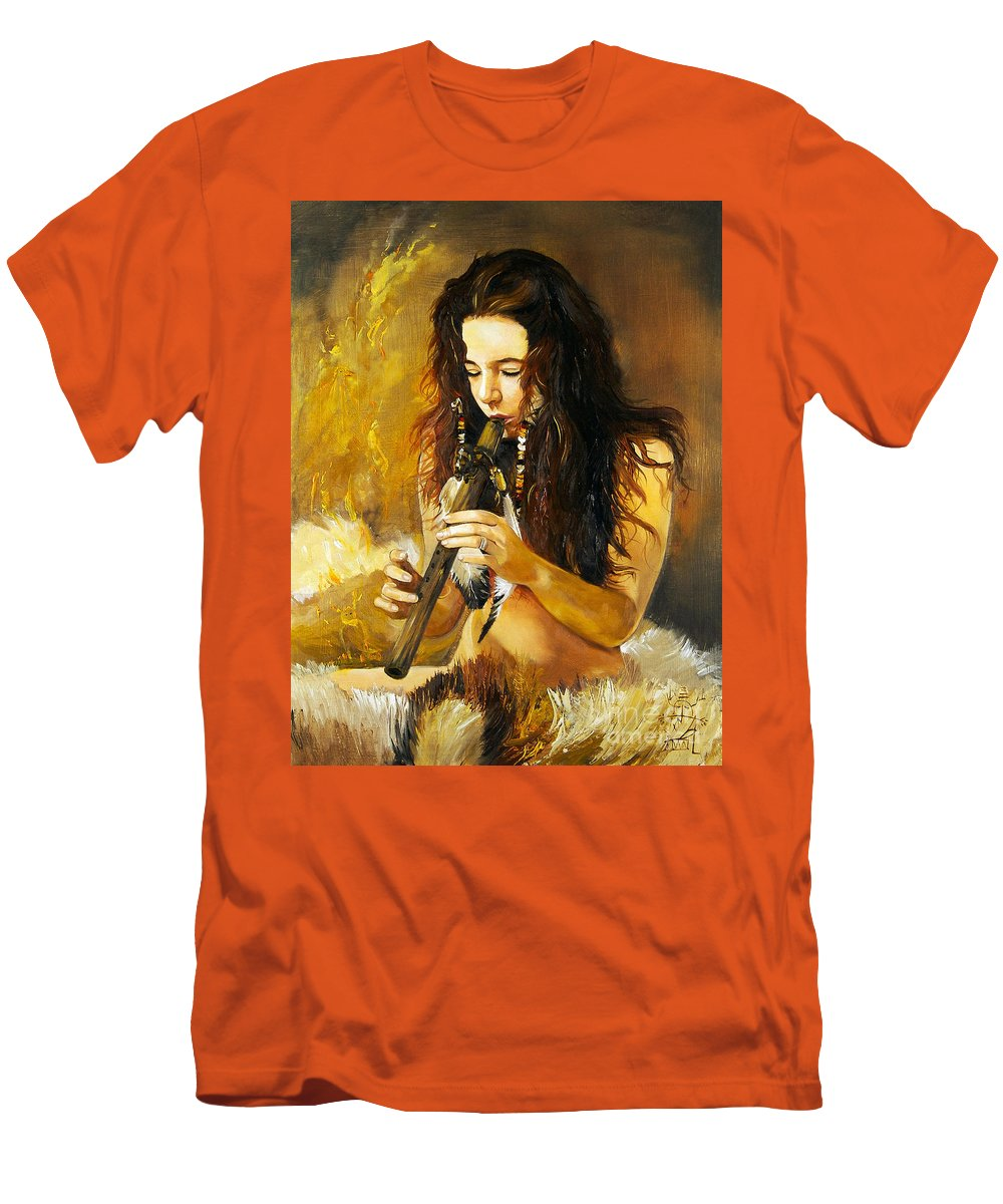 Woman Men's T-Shirt (Athletic Fit) featuring the painting Release by J W Baker