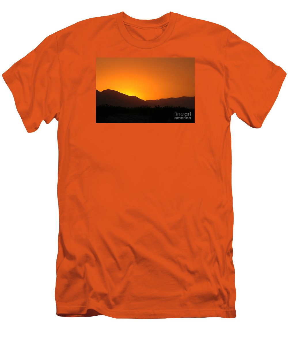 Sunset Men's T-Shirt (Athletic Fit) featuring the photograph San Jacinto Dusk Near Palm Springs by Michael Ziegler