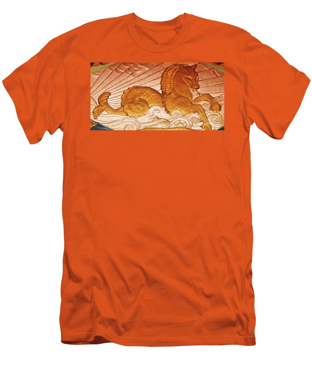 Serpent Men's T-Shirt (Athletic Fit) featuring the painting Sea Serpent by Eric Schiabor