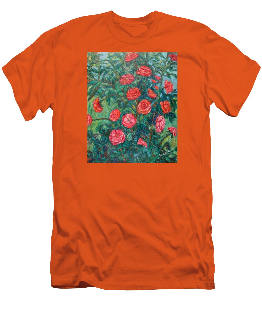 Rose Men's T-Shirt (Athletic Fit) featuring the painting Spring Roses by Kendall Kessler