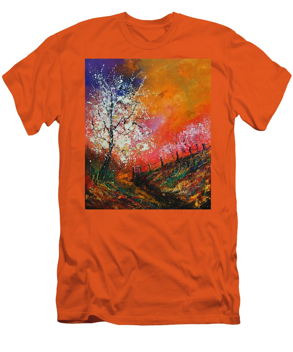 Spring Men's T-Shirt (Athletic Fit) featuring the painting Spring Today by Pol Ledent