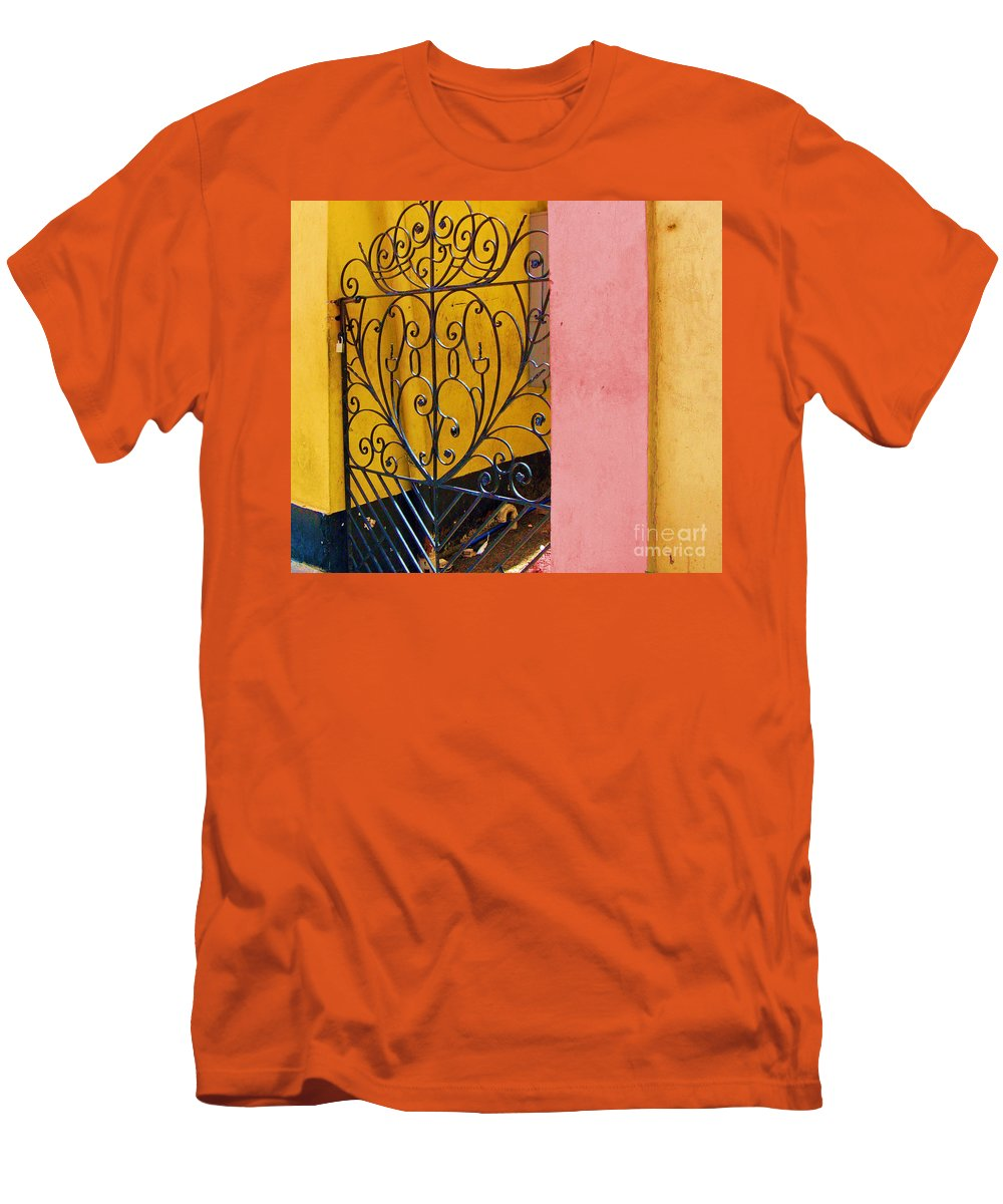 Gate Men's T-Shirt (Athletic Fit) featuring the photograph St. Thomas Gate by Debbi Granruth