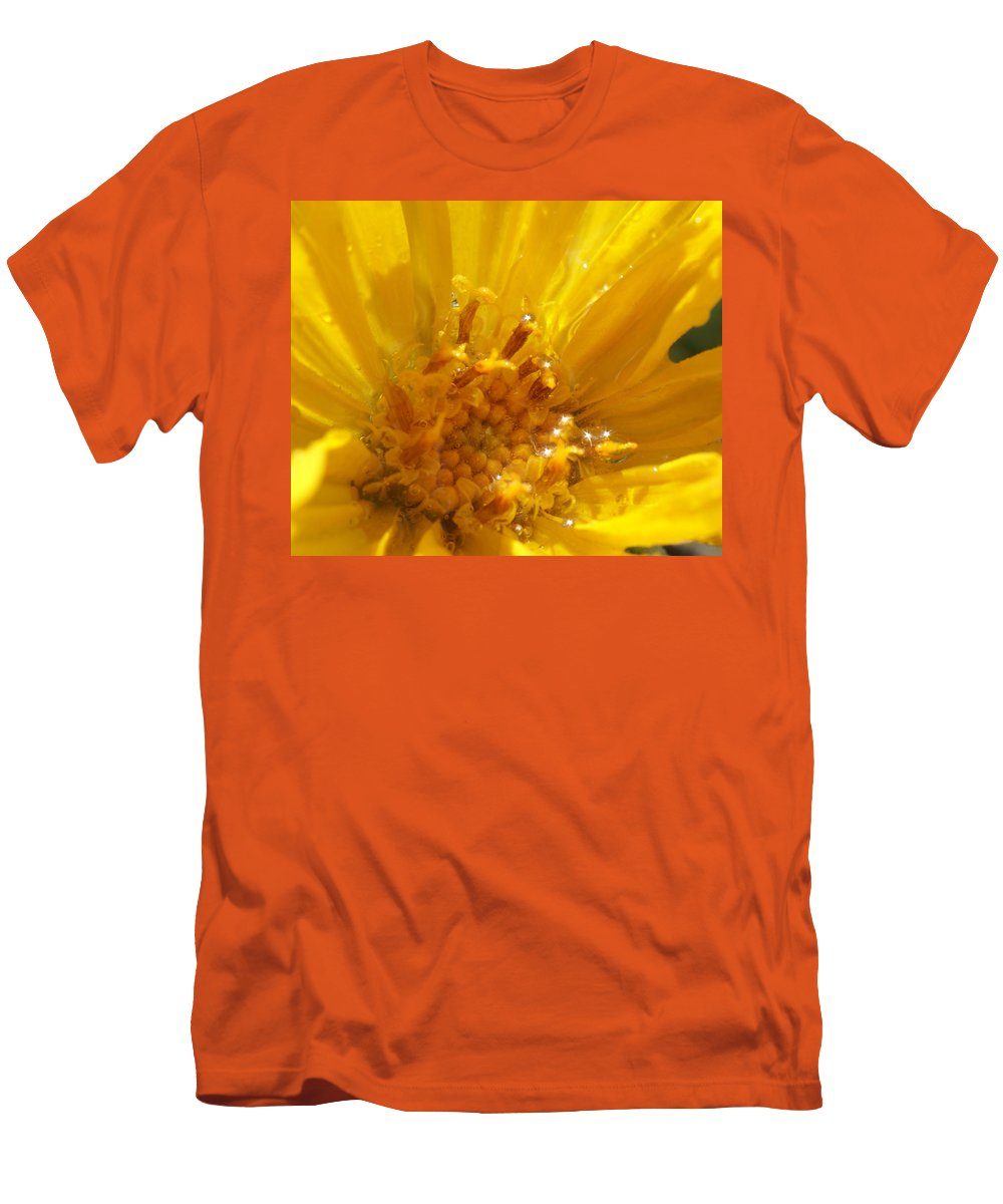 Goldeneye Men's T-Shirt (Athletic Fit) featuring the photograph Starry Goldeneye by Heather Coen