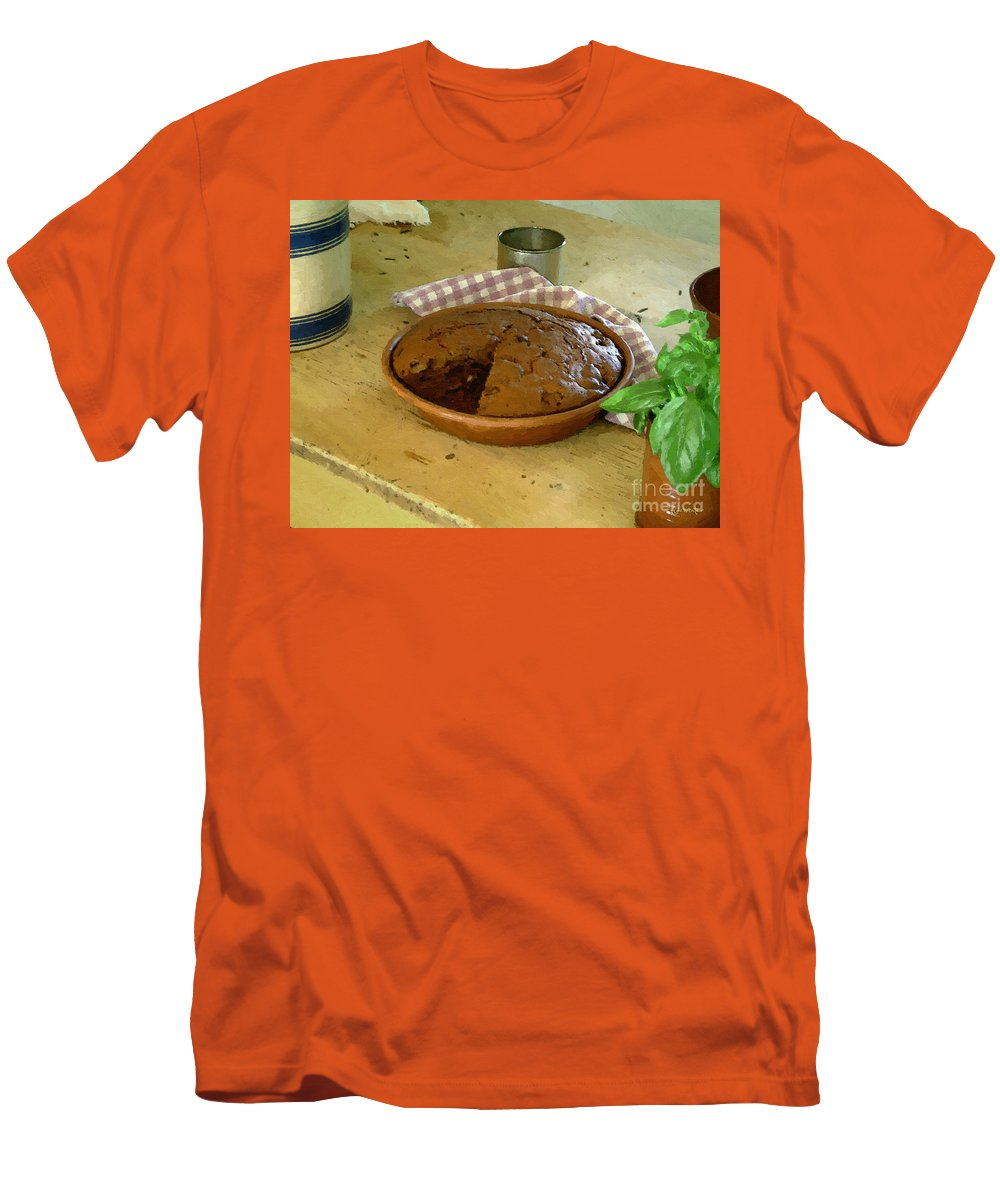 Gingerbread Men's T-Shirt (Athletic Fit) featuring the painting Still Life With Gingerbread by RC DeWinter