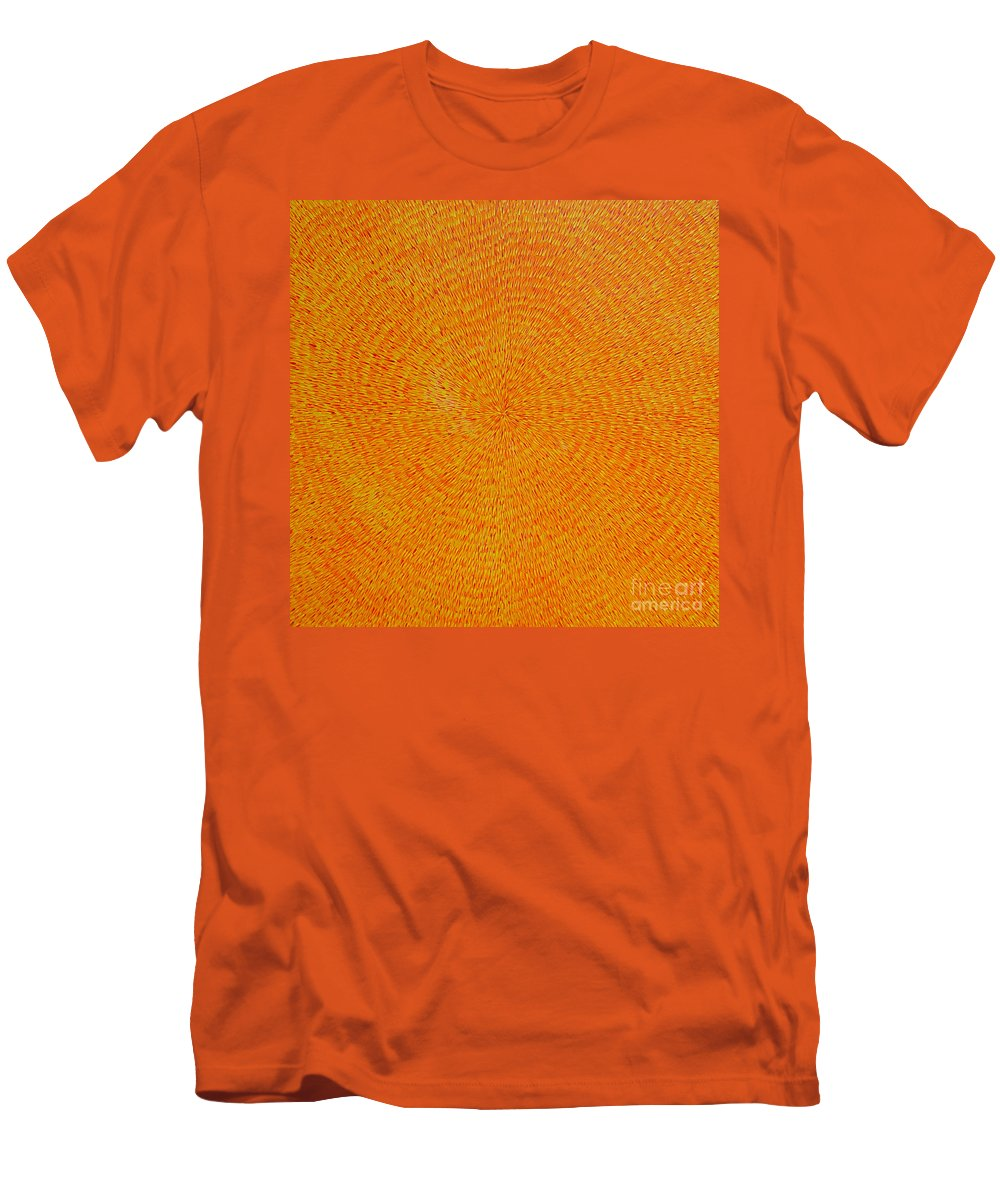 Abstract Men's T-Shirt (Athletic Fit) featuring the painting Su Gaia by Dean Triolo