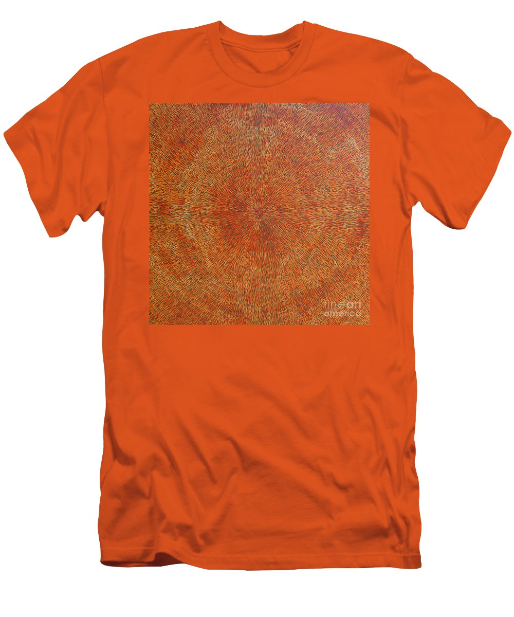 Abstract Men's T-Shirt (Athletic Fit) featuring the painting Su Gaia Earth by Dean Triolo