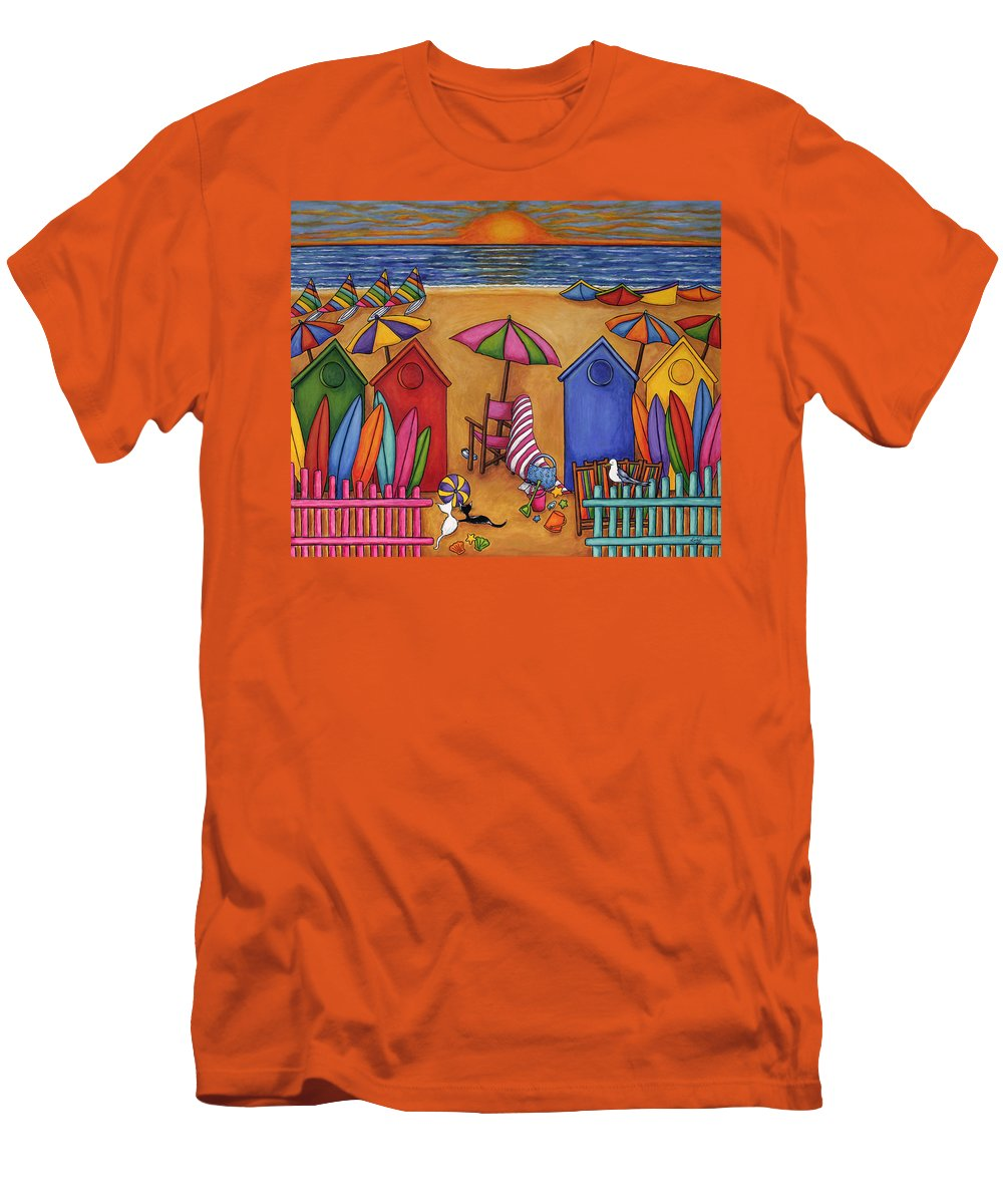 Summer Men's T-Shirt (Athletic Fit) featuring the painting Summer Delight by Lisa Lorenz