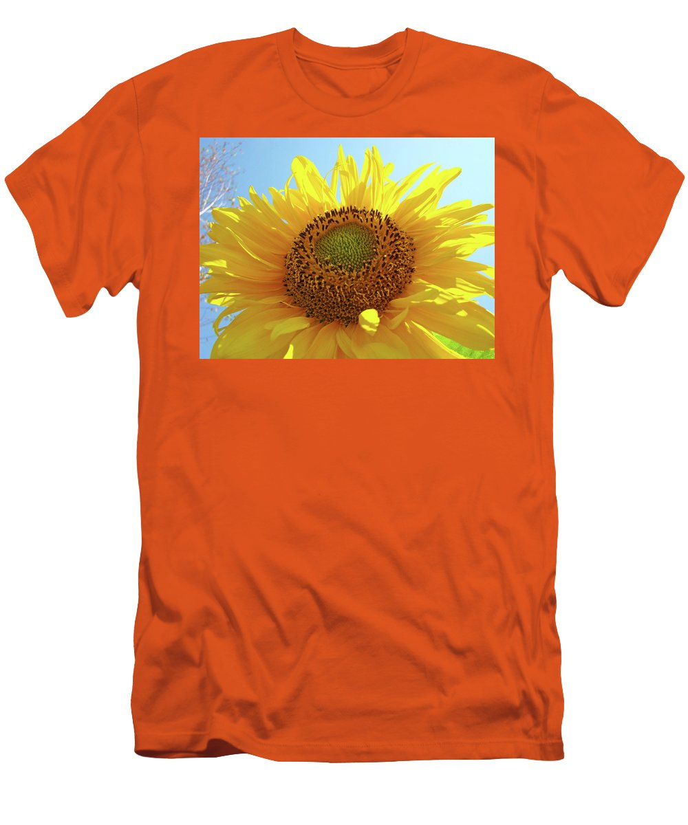 Sunflower Men's T-Shirt (Athletic Fit) featuring the photograph Sun Flowers Art Sunflower Giclee Prints Baslee Troutman by Baslee Troutman