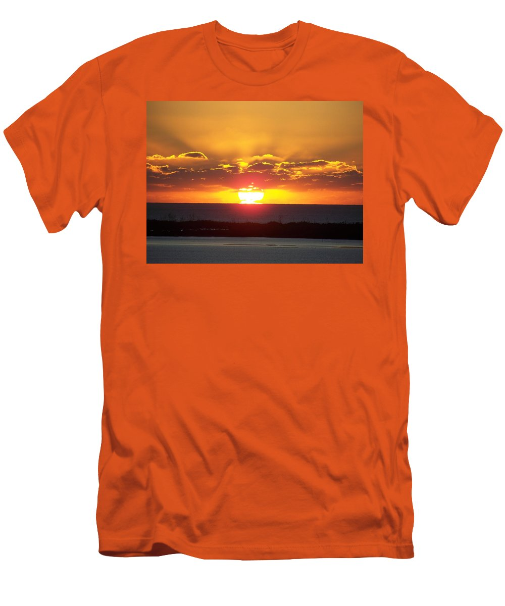 Sunset Men's T-Shirt (Athletic Fit) featuring the photograph Sunset 0010 by Laurie Paci