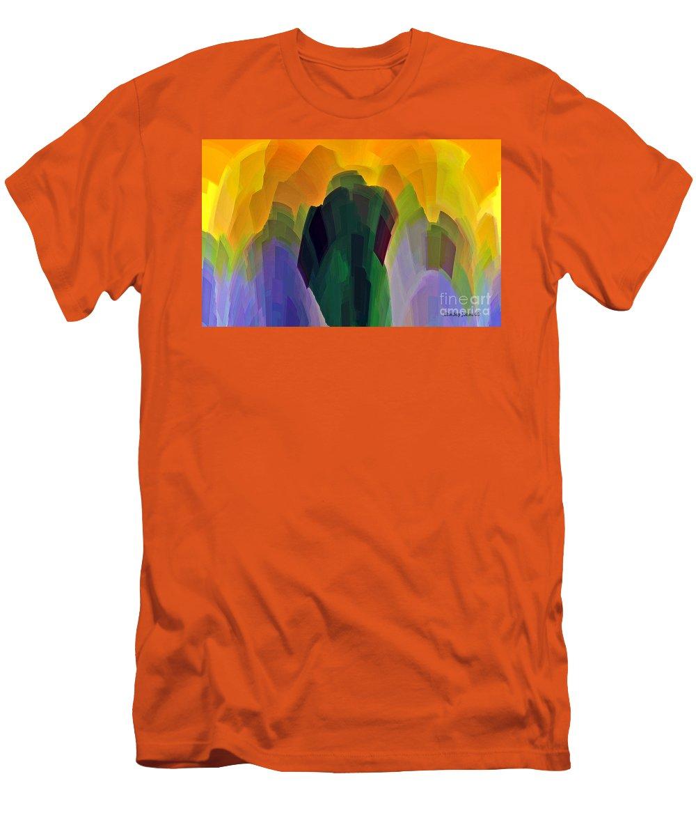 Garden Men's T-Shirt (Athletic Fit) featuring the digital art The Gardener by Shelley Jones