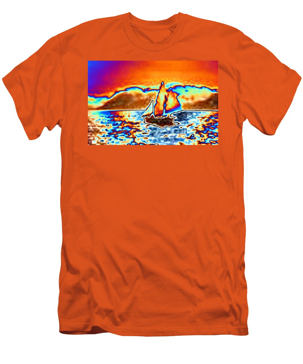 Sail Men's T-Shirt (Athletic Fit) featuring the digital art The Sail by Tim Allen