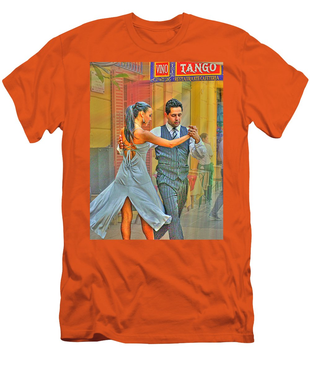 Tango Men's T-Shirt (Athletic Fit) featuring the photograph Too Tango by Francisco Colon