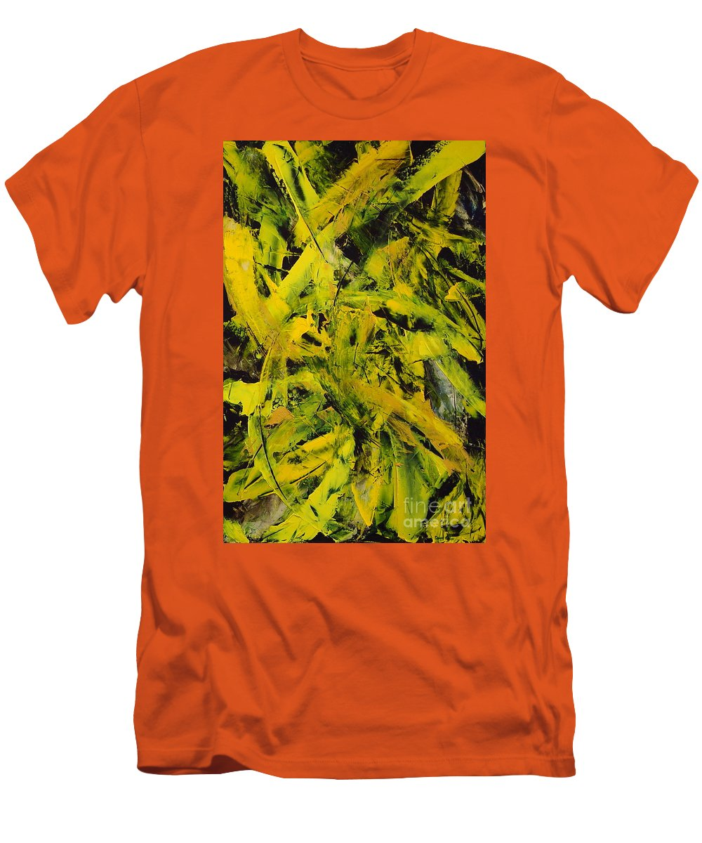 Abstract Men's T-Shirt (Athletic Fit) featuring the painting Transitions Vi by Dean Triolo