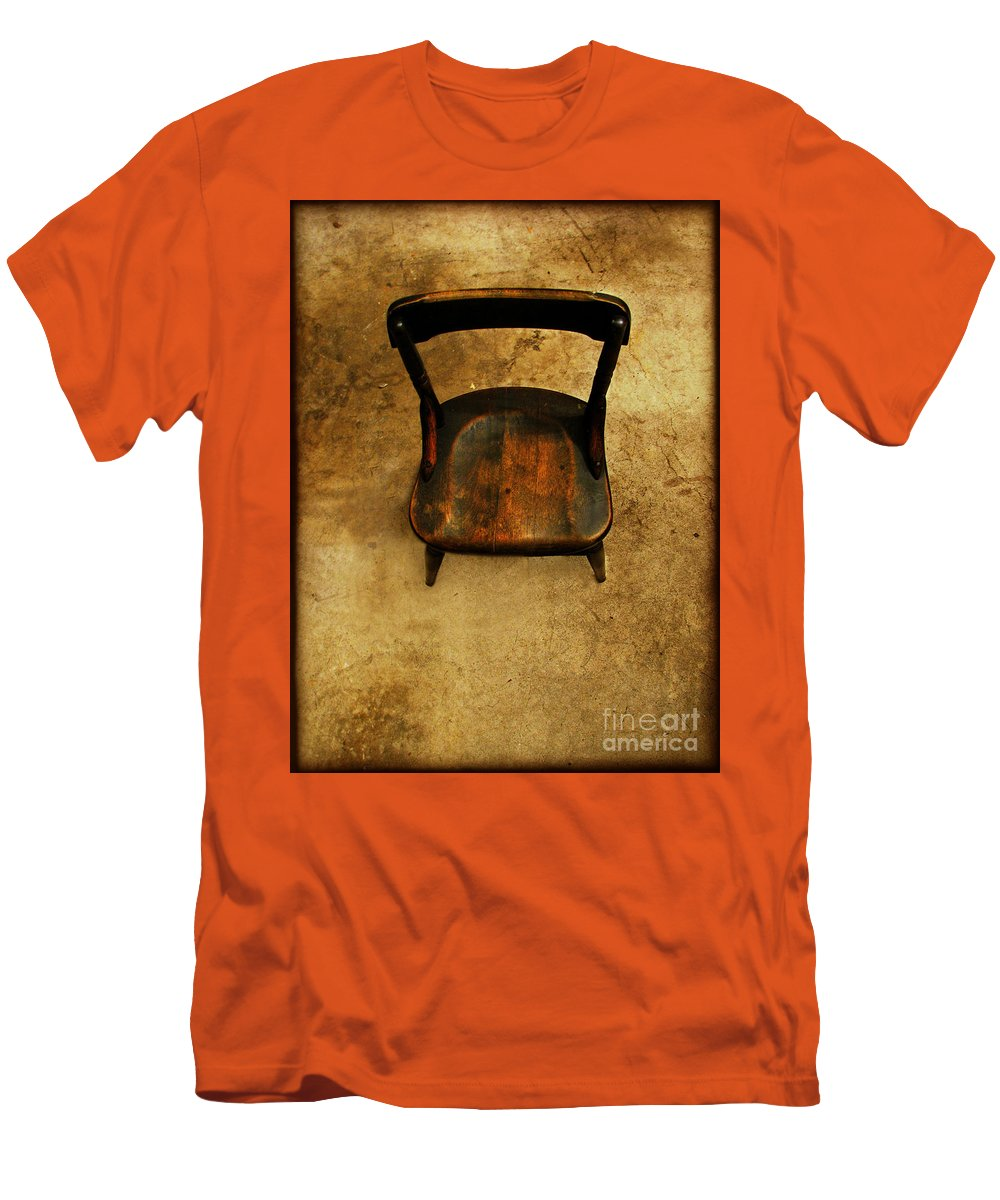Alone Men's T-Shirt (Athletic Fit) featuring the photograph Waiting To Say Goodbye by Dana DiPasquale