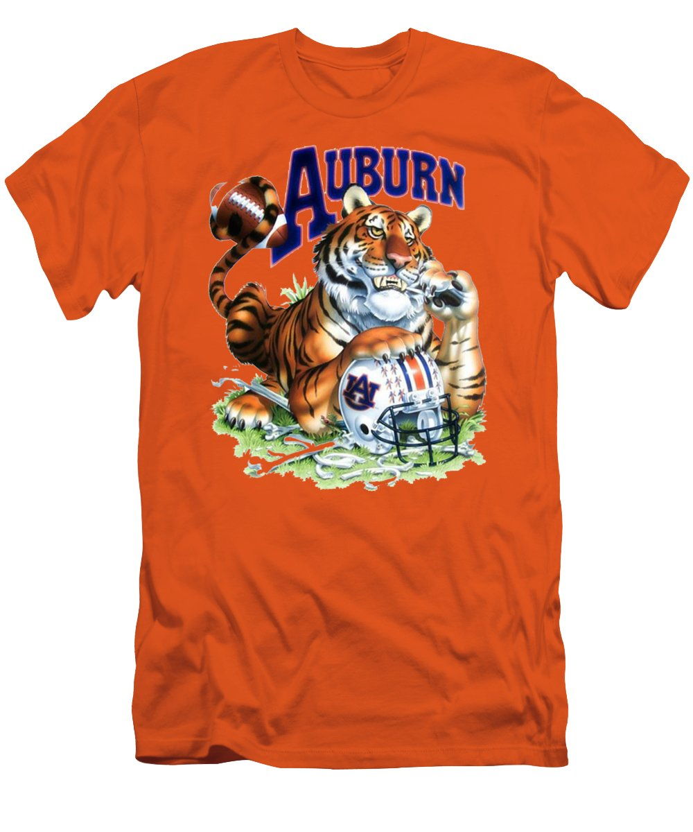 Auburn tigers t shirts fine art america for Auburn tigers football t shirts