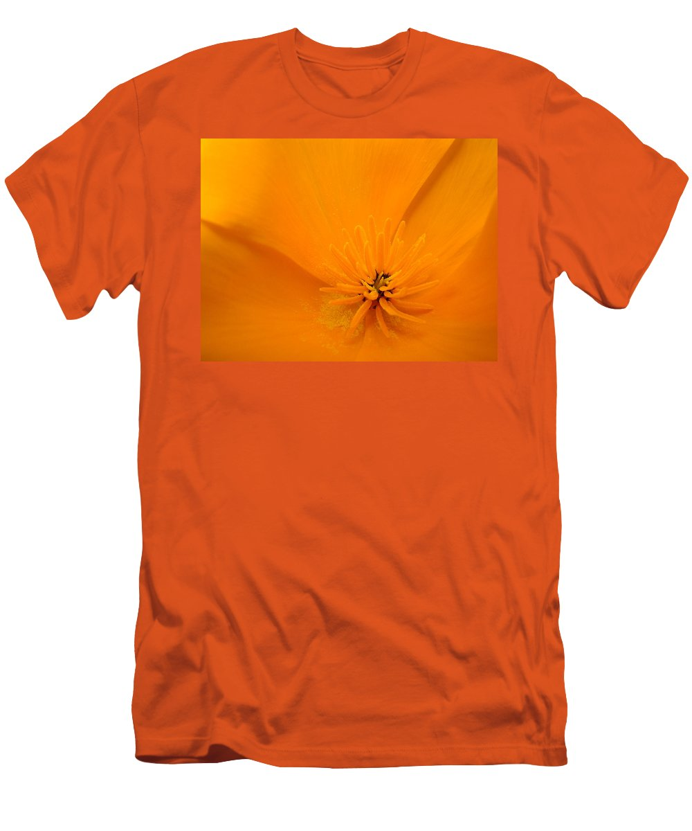 �poppies Artwork� Men's T-Shirt (Athletic Fit) featuring the photograph Wildflower Art Poppy Flower 6 Poppies Artwork Prints Cards by Baslee Troutman