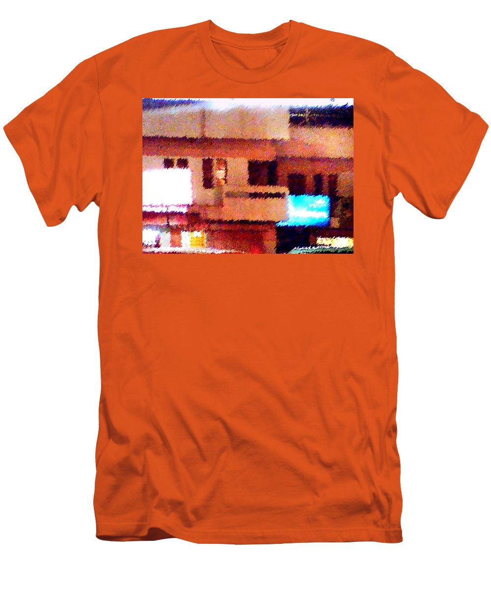 Digital Art Men's T-Shirt (Athletic Fit) featuring the painting Windows by Anil Nene