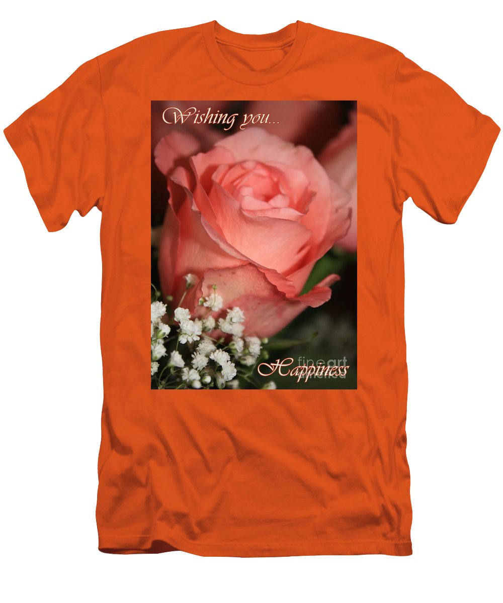 Card Men's T-Shirt (Athletic Fit) featuring the photograph Wishing You Happiness Card by Carol Groenen