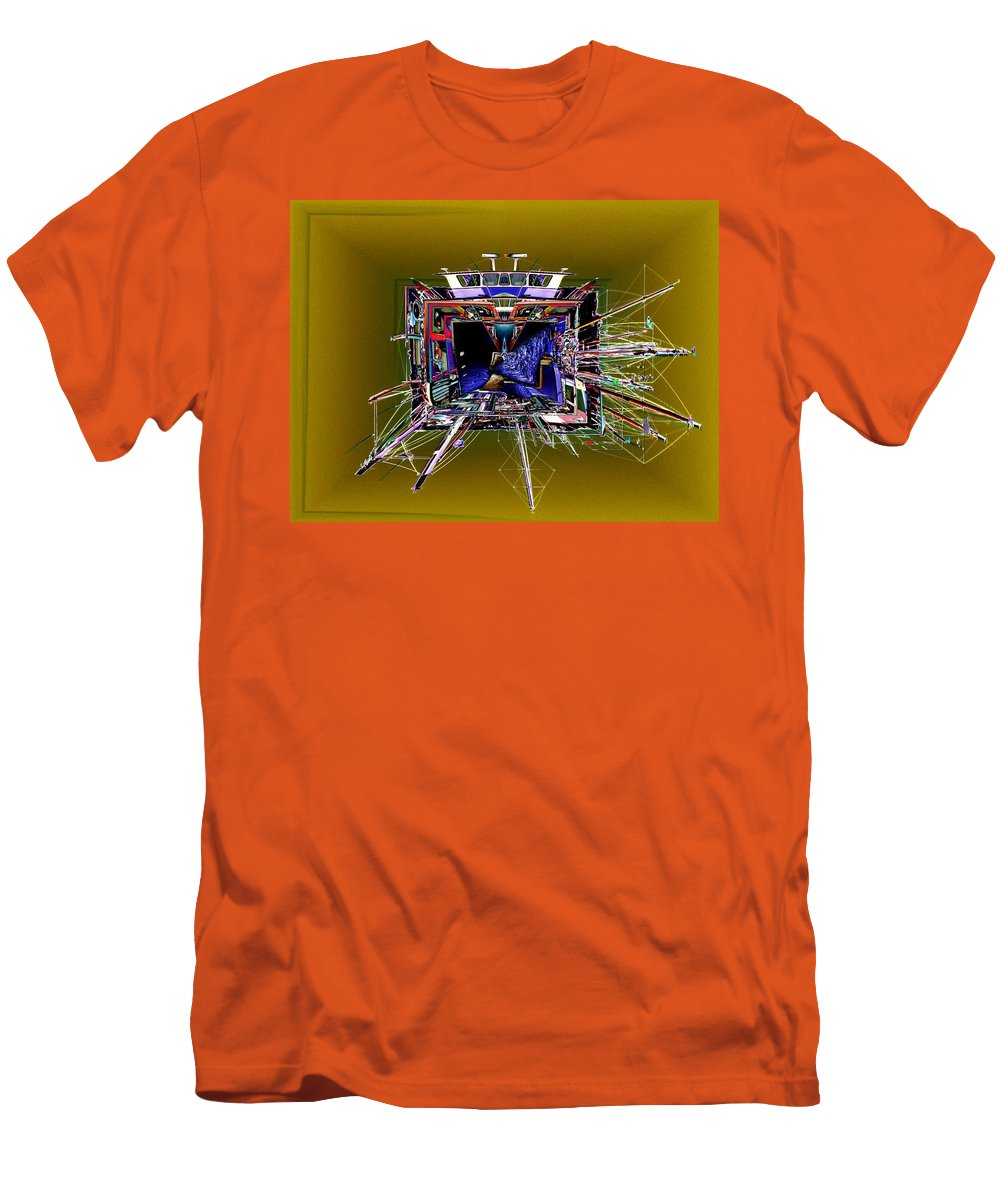Seattle Men's T-Shirt (Athletic Fit) featuring the photograph Wooden Boat Vortex by Tim Allen