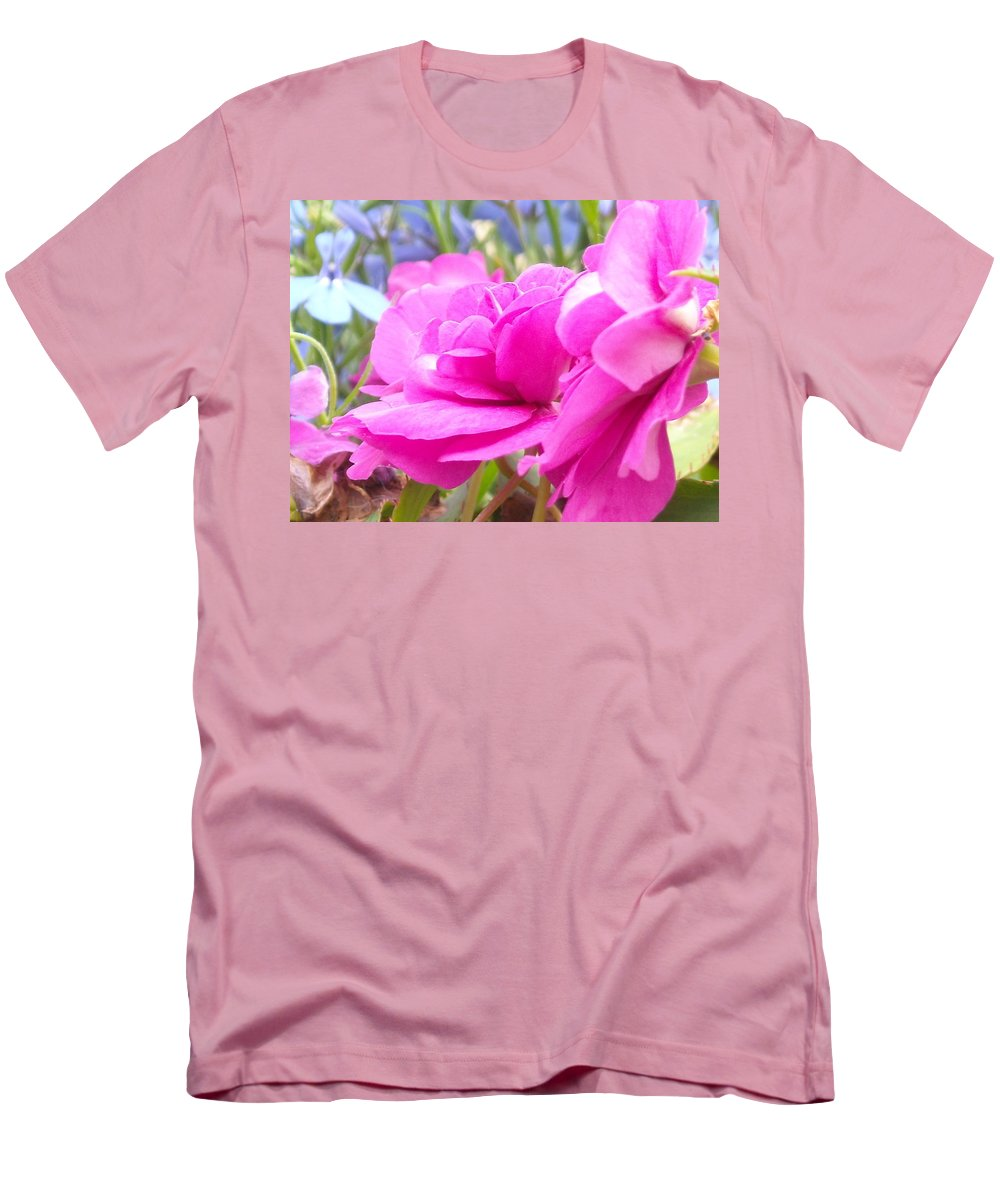Flower Men's T-Shirt (Athletic Fit) featuring the photograph Pretty Pink Flower by Line Gagne
