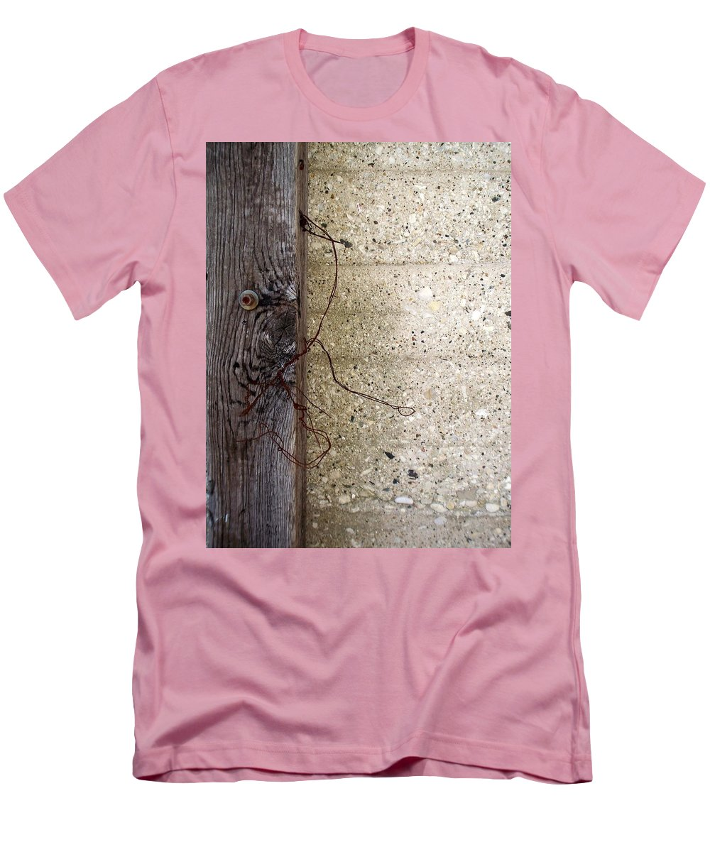 Industrial. Urban Men's T-Shirt (Athletic Fit) featuring the photograph Abstract Concrete 11 by Anita Burgermeister