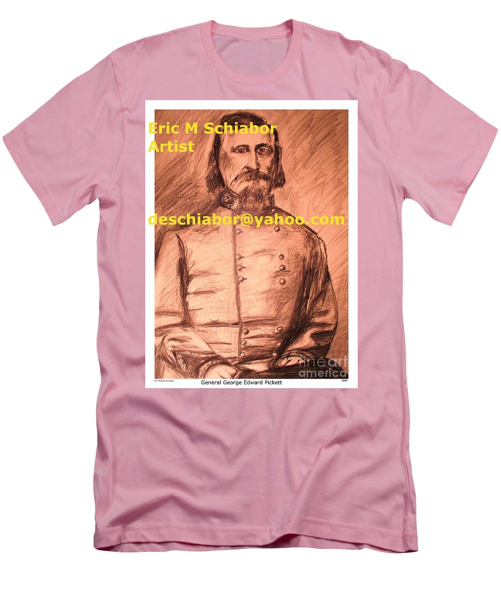 General Pickett Men's T-Shirt (Athletic Fit) featuring the painting General Pickett Confederate by Eric Schiabor