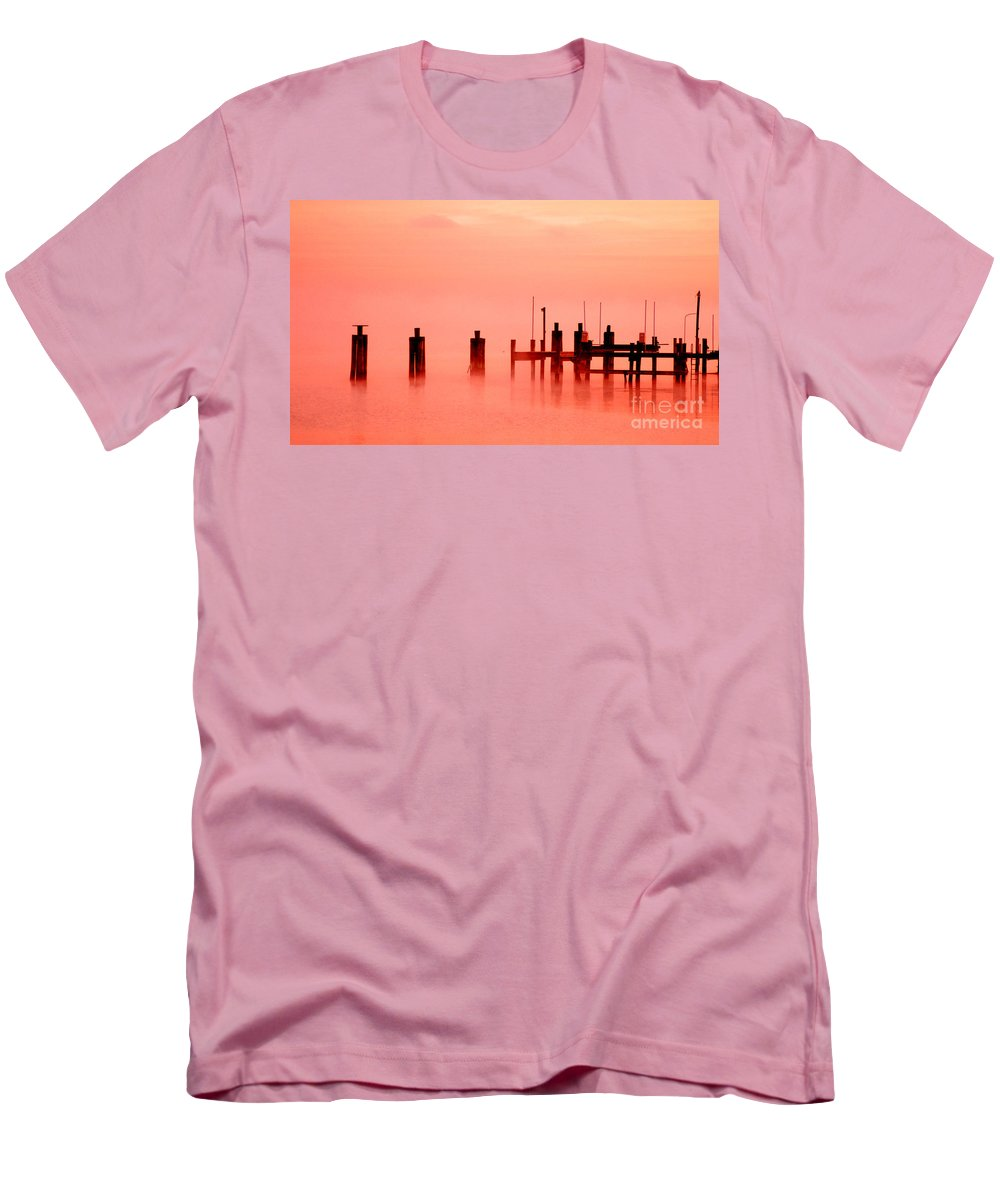Clay Men's T-Shirt (Athletic Fit) featuring the photograph Eery Morn' by Clayton Bruster