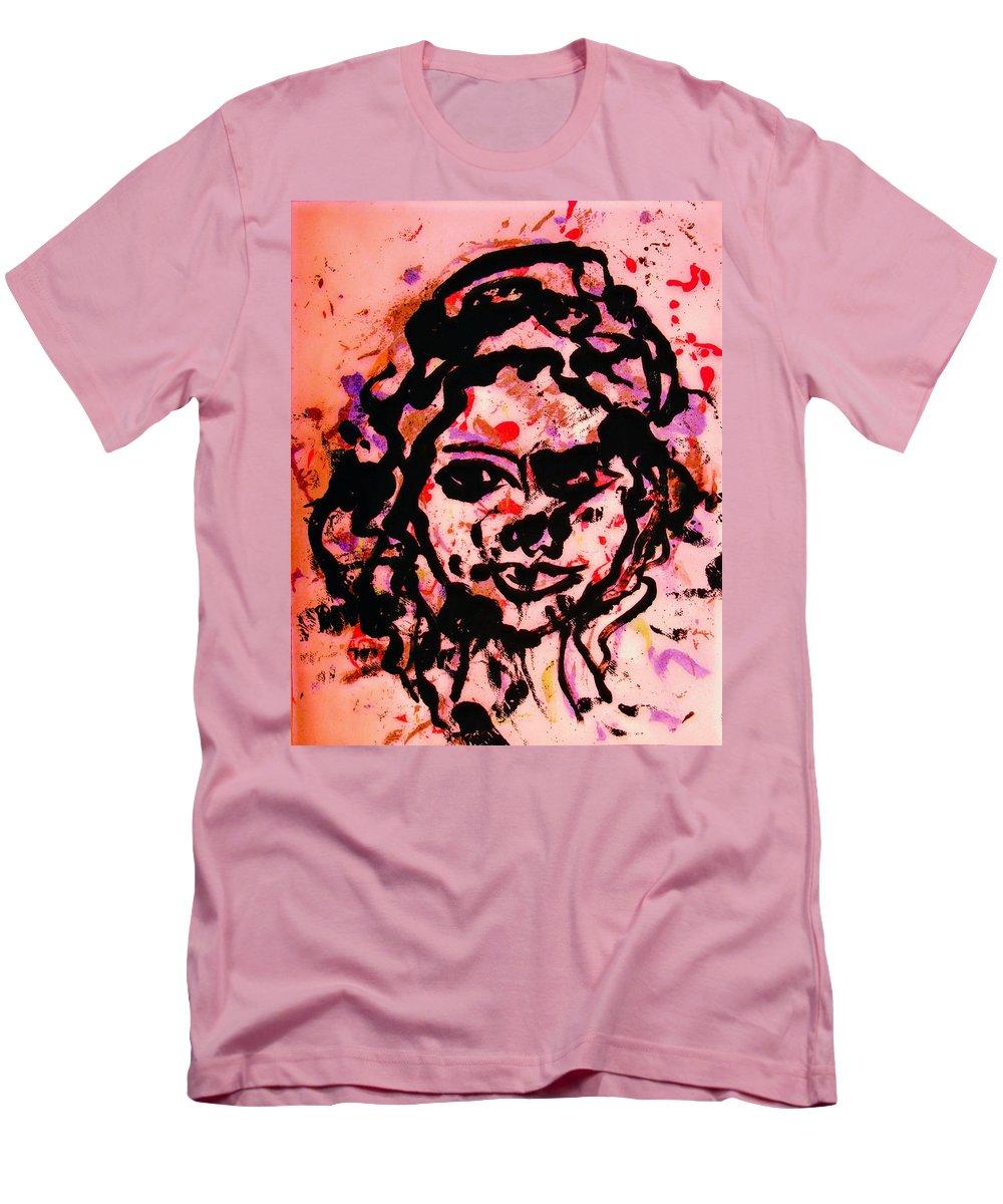 Portrait Men's T-Shirt (Athletic Fit) featuring the painting Self Portrait by Natalie Holland