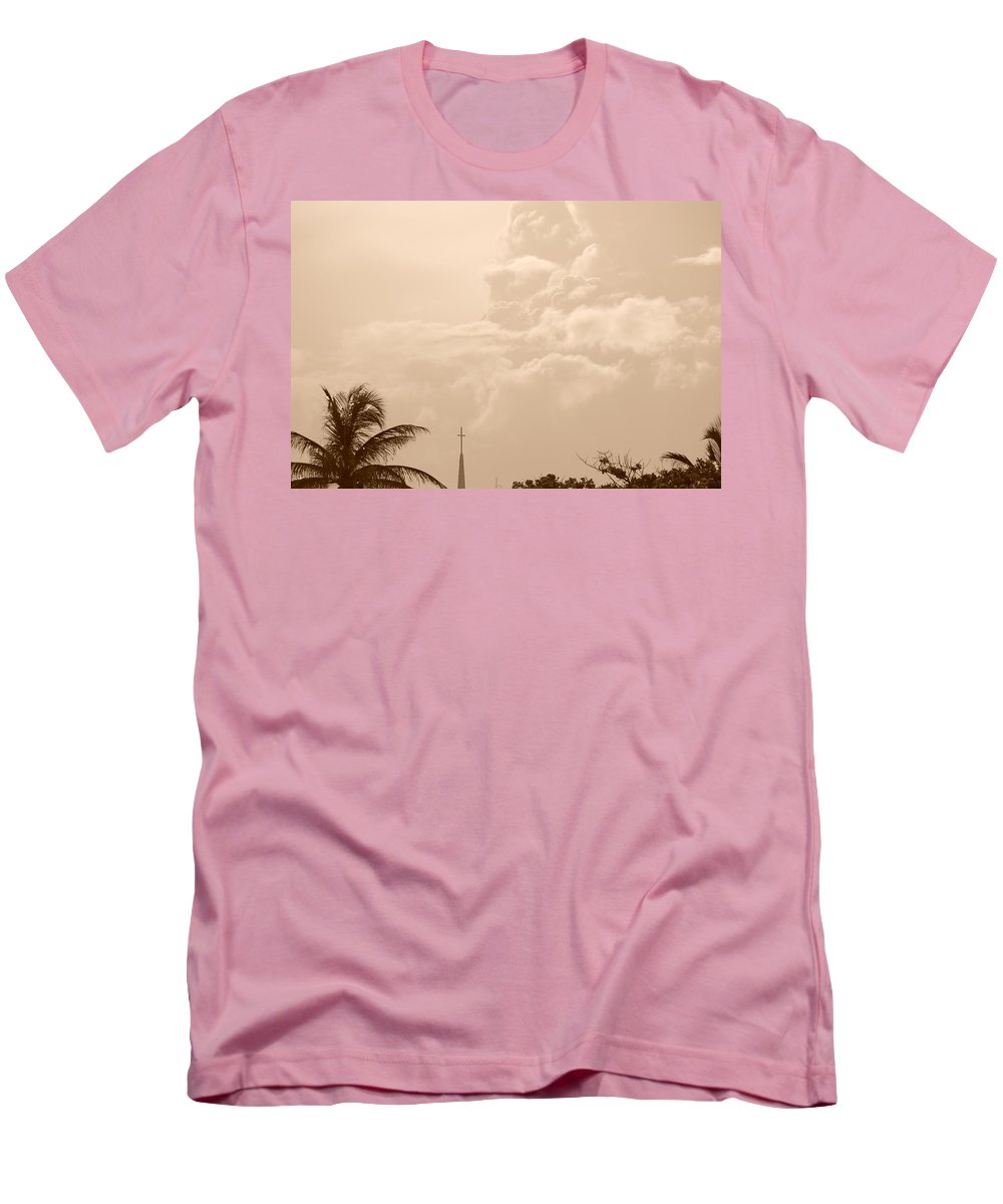 Sepia Men's T-Shirt (Athletic Fit) featuring the photograph Sepia Sky by Rob Hans
