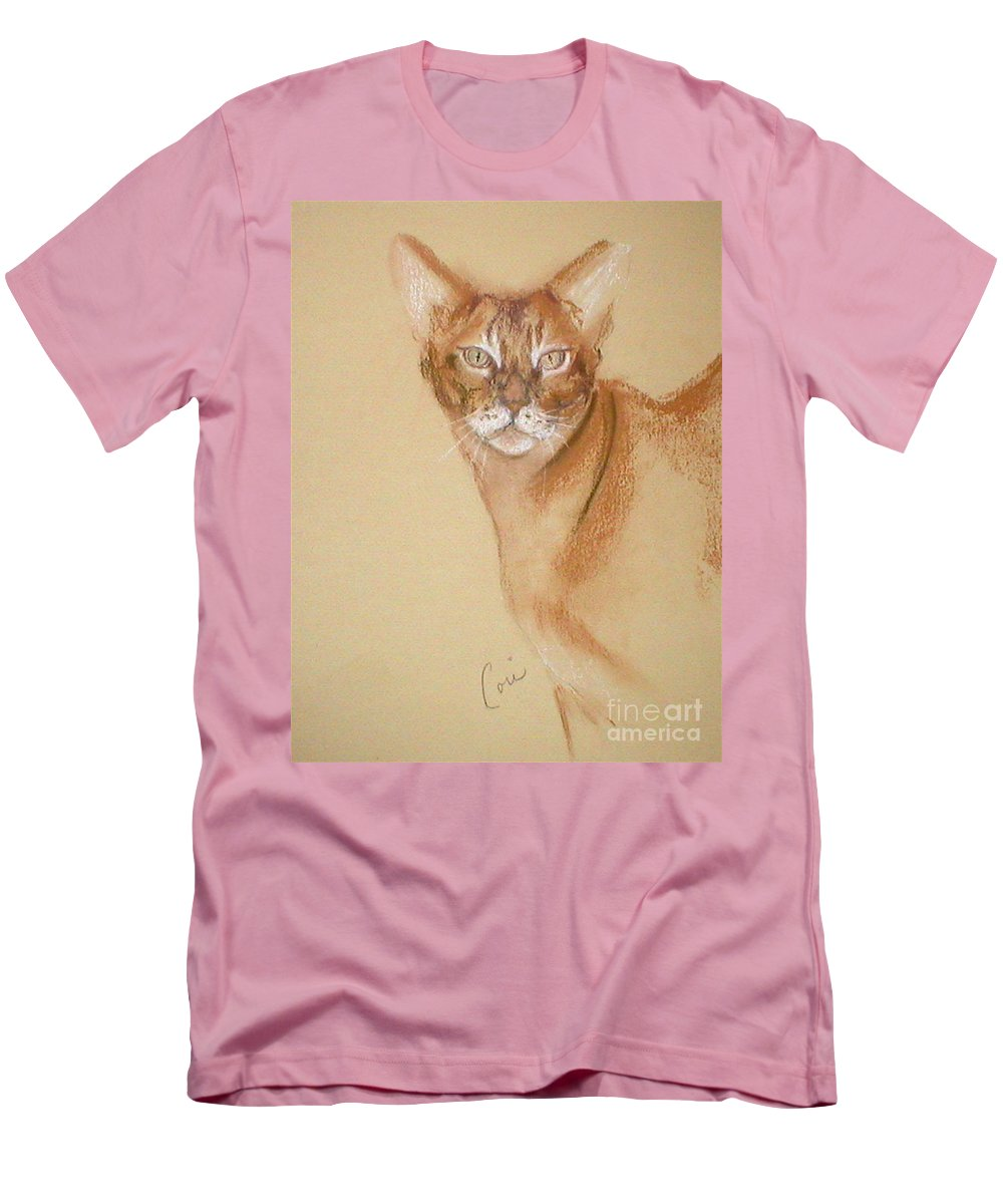 Pastel Men's T-Shirt (Athletic Fit) featuring the drawing Abyssinian by Cori Solomon