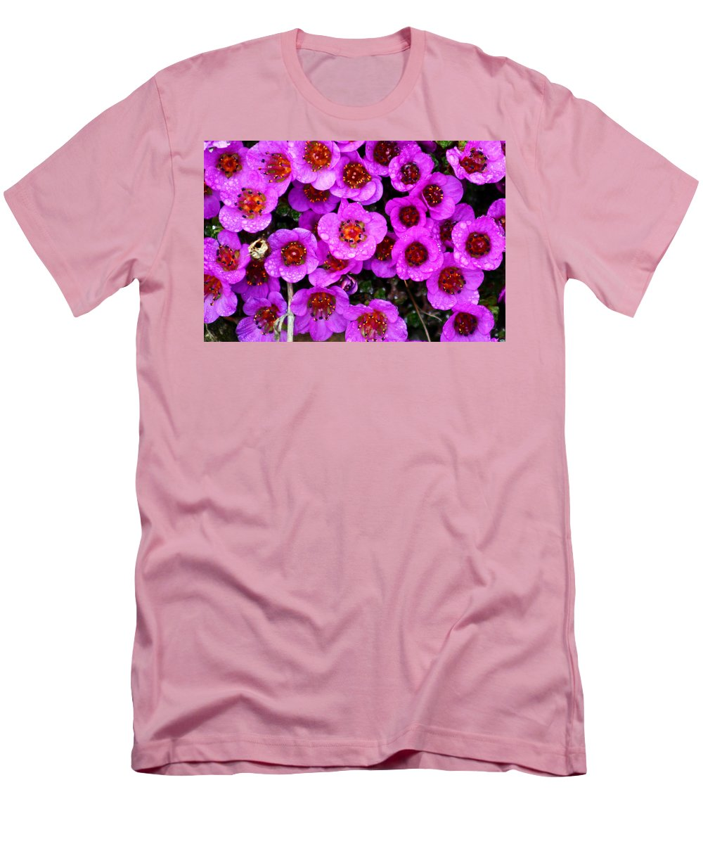 Flowers. Wild Flowers Men's T-Shirt (Athletic Fit) featuring the photograph Alaskan Wild Flowers by Anthony Jones