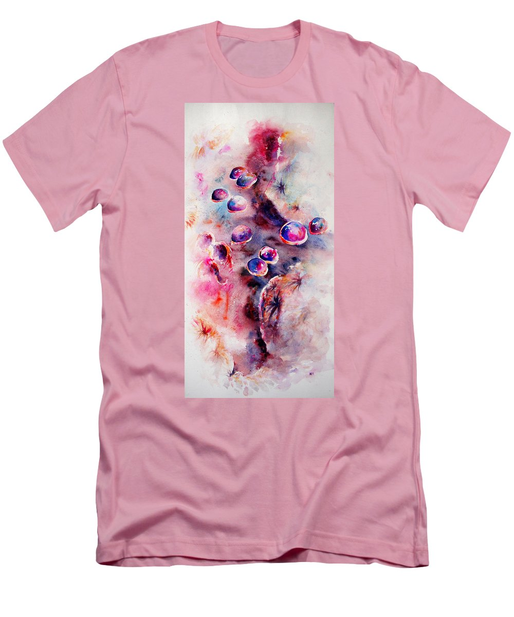 Abstract Men's T-Shirt (Athletic Fit) featuring the painting Anemone by Rachel Christine Nowicki