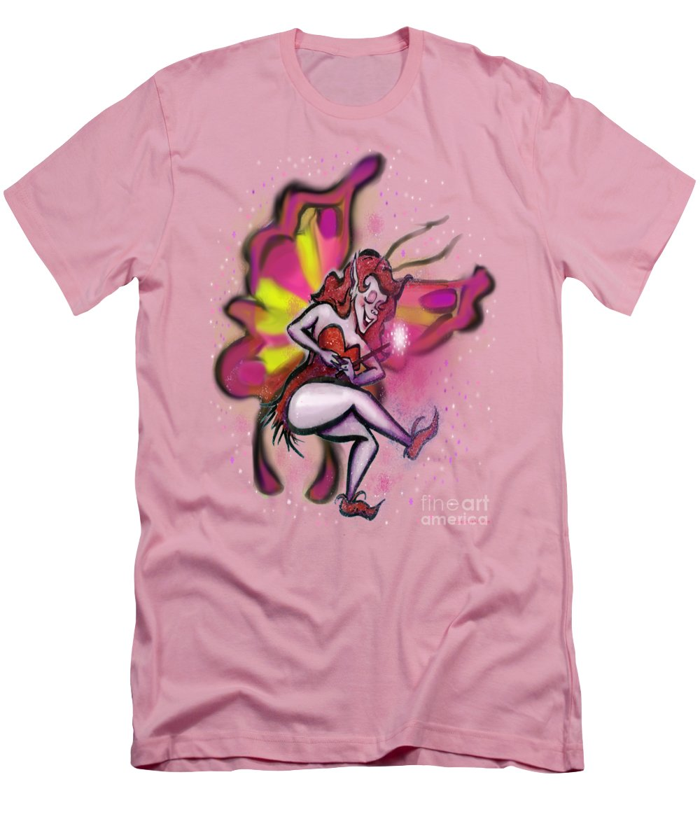 Pink Men's T-Shirt (Athletic Fit) featuring the digital art Pink Faerie by Kevin Middleton