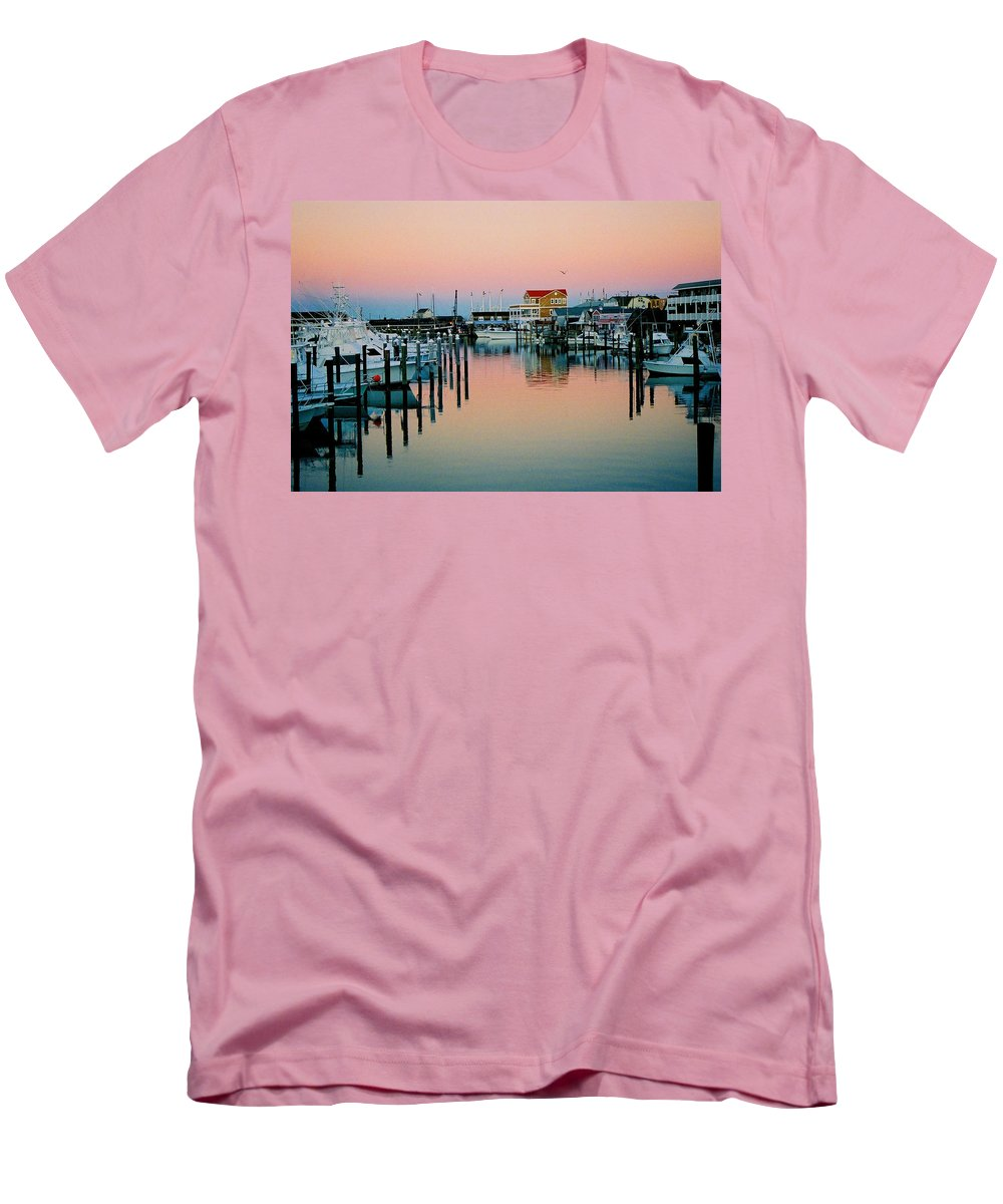 Cape May Men's T-Shirt (Athletic Fit) featuring the photograph Cape May After Glow by Steve Karol