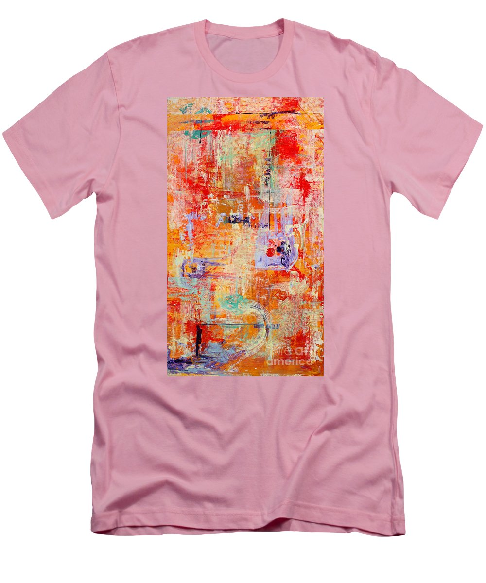 Large Format Painting Men's T-Shirt (Athletic Fit) featuring the painting Crescendo by Pat Saunders-White
