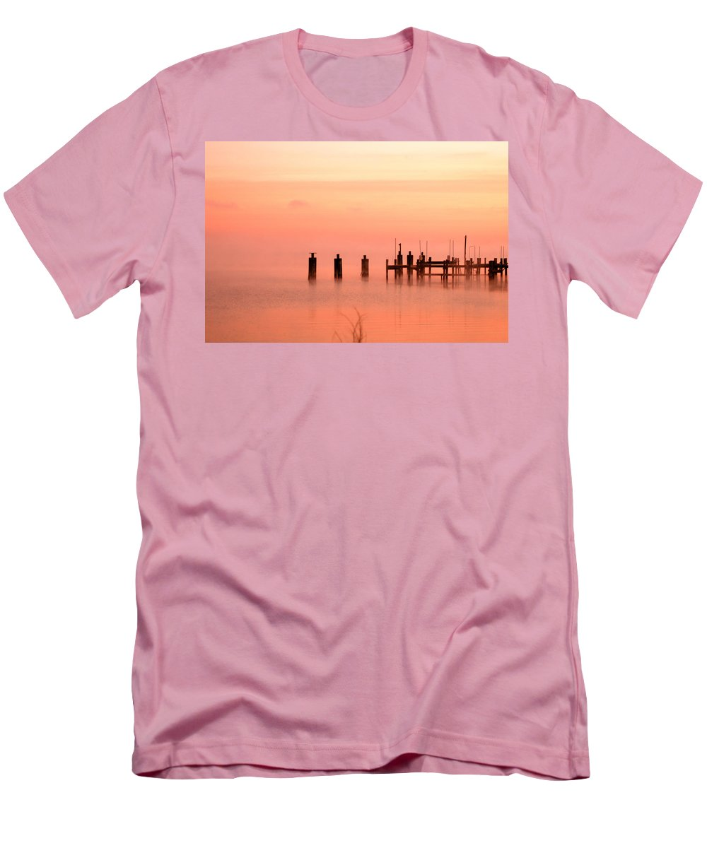 Clay Men's T-Shirt (Athletic Fit) featuring the photograph Eery Morn by Clayton Bruster