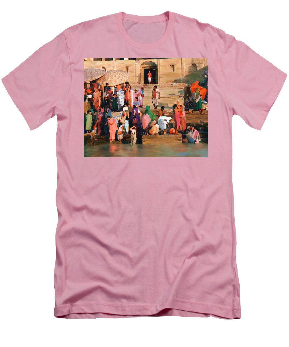 Ganges River Men's T-Shirt (Athletic Fit) featuring the photograph Ganges by Kurt Van Wagner