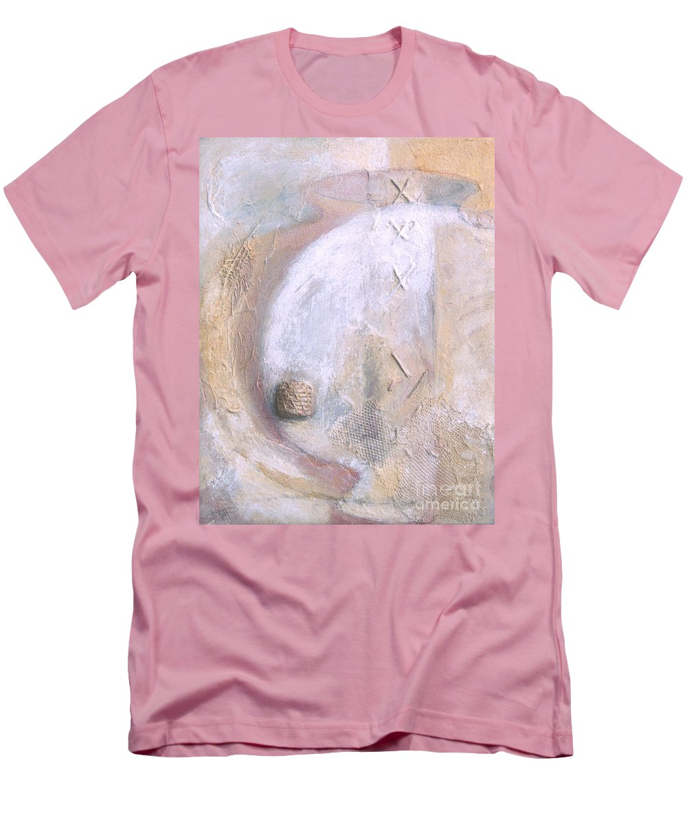Collage Men's T-Shirt (Athletic Fit) featuring the painting Give And Receive by Kerryn Madsen-Pietsch